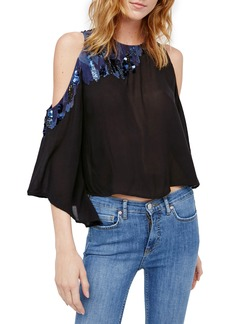 Free People All About You Embellished Cold Shoulder Top