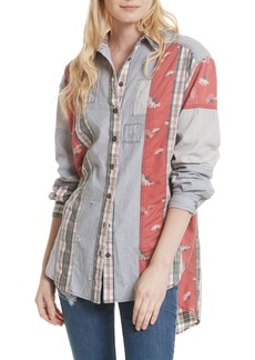 Free People All Patched Up Shirt