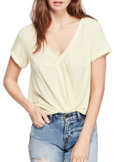 Free People All You Need Raw-Edge Tee