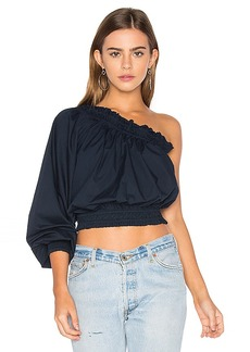 Free People Anabelle Asymmetrical Top in Navy. - size M (also in L,S)