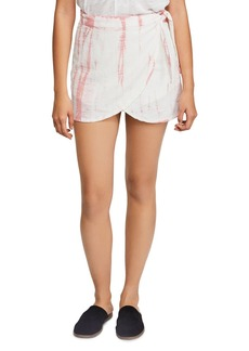 Free People Ann Reed Tie-Dye Wrap Mini Skirt