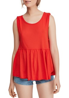 Free People Anytime Peplum Tank