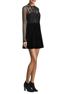 Free People Ariel Embellished Mini Dress