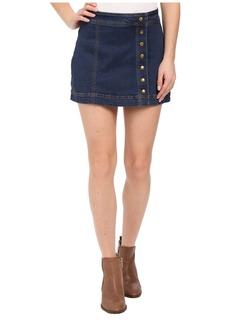Free People Asymmetrical Button Down Skirt