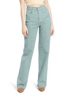 Free People Astoria Wide Leg Jeans (Peppermint Stripe)