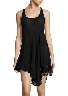 Free People Asymmetrical Slip Dress