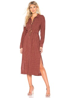 Free People Audrey Midi Stripe Dress