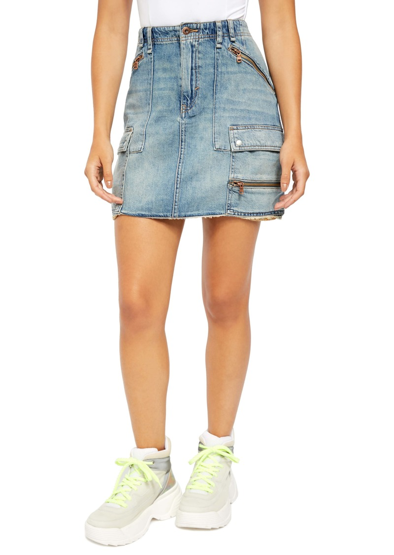 Free People Avenue Denim Miniskirt