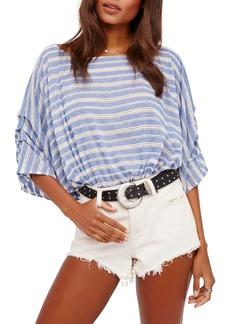 Free People Azelea Crochet & Stripe Top