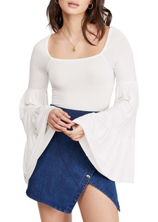 Free People Babetown Bell Sleeve Top