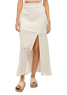 Free People Bari Crocheted Front-Slit Skirt