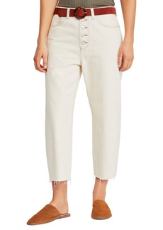 Free People Barrel Straight Leg Crop Jeans