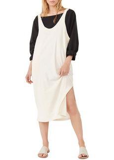 Free People Be Happy Pinafore Dress & Top Set