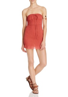 Free People Beach Babe Smocked Halter Dress