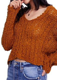 Free People Beach Comber Crop Sweater