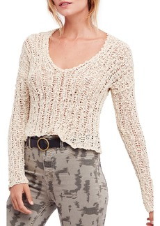 Free People Beach Comber Crop Sweater