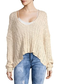 Free People Beach Comber Knit Pullover