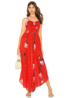 Free People Beau Smocked Printed Slip Dress