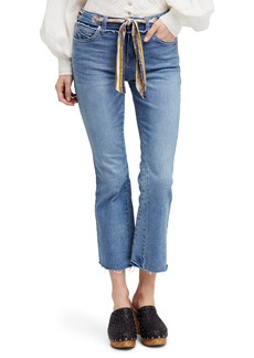 Free People Belt Out High Waist Crop Bootcut Jeans