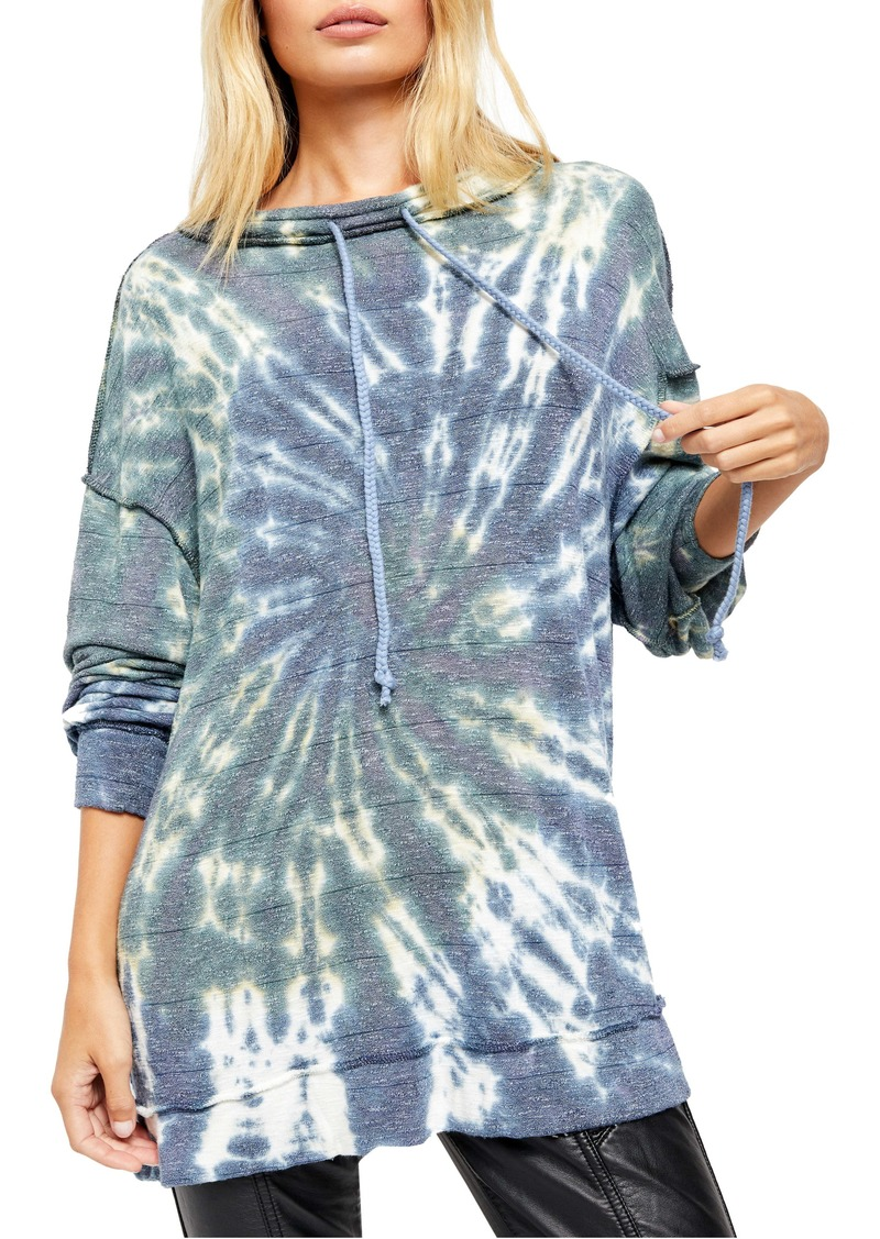 Free People Best Catch Long Sleeve Tie Dye Tee