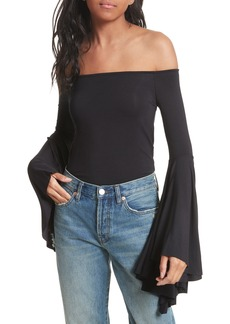 Free People Birds of Paradise Off the Shoulder Top