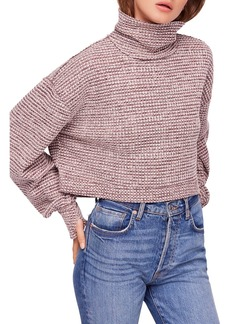 Free People BK Cropped Turtleneck Sweater