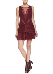 Free People Black Dove Crocheted-Lace Panel Dress