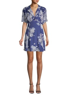 Free People Blue Hawaii Mini-Dress