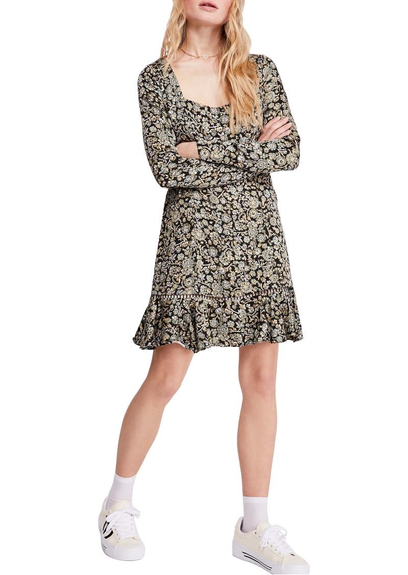 Free People Boheme Long Sleeve Minidress