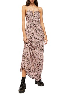 Free People Bon Voyage Floral Print Sleeveless Dress