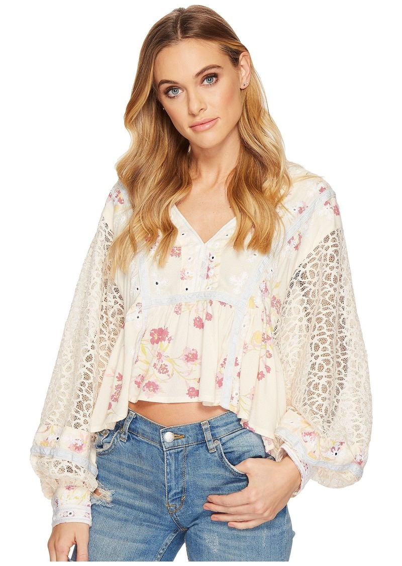 Free People Boogie All Night Printed Blouse