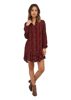 Free People Button Down Shirt Dress