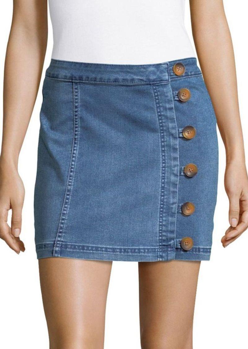 84d08c7e25 Free People Free People Button Wrap Mini Skirt | Skirts