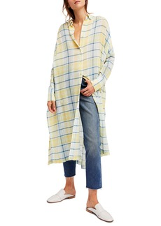 Free People By My Side Button-Down Duster