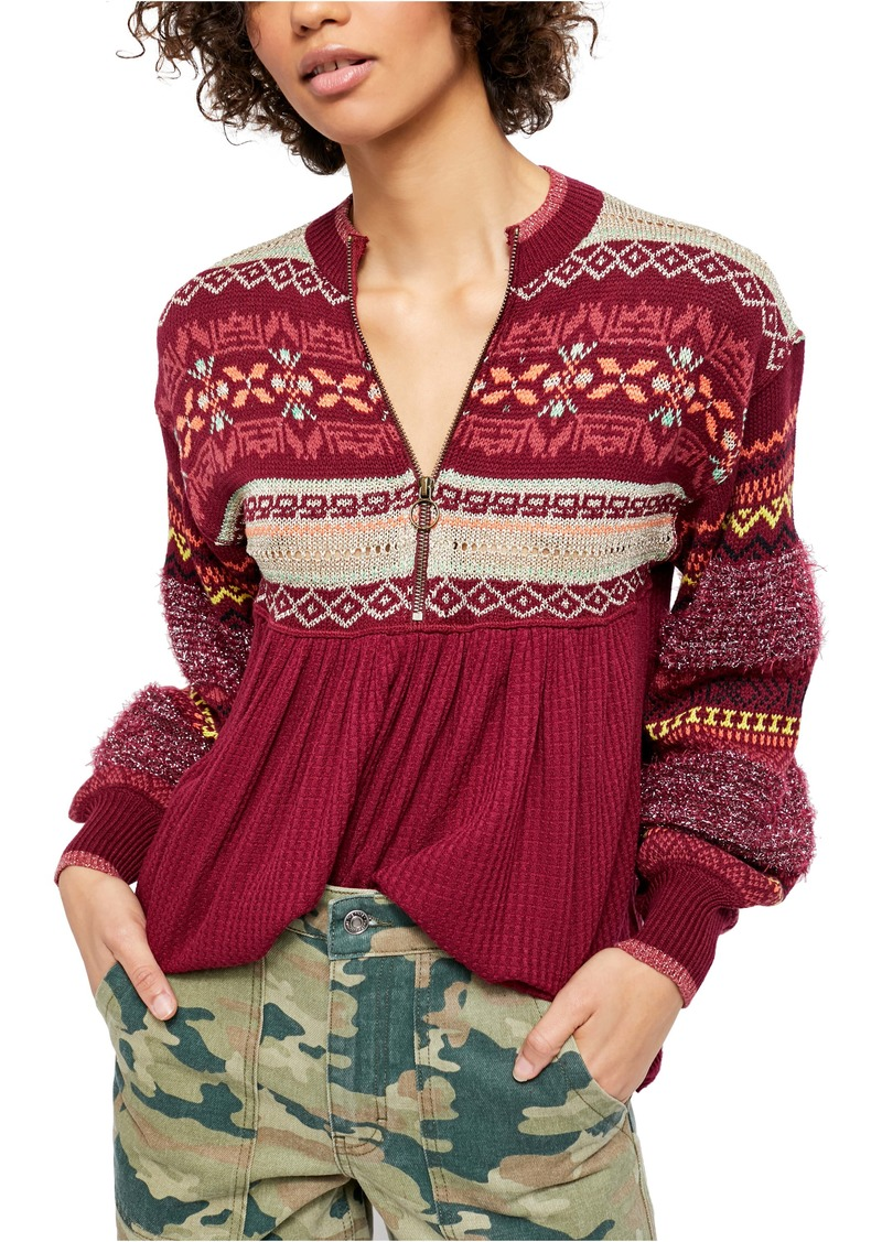 Free People Cabin Fever Swit Tunic Top