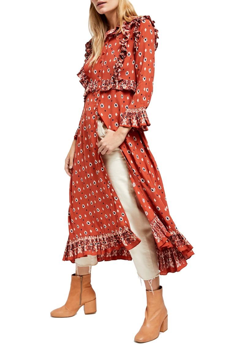 Free People Calico Skies Midi Dress