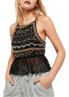 Free People Camille Embroidered Camisole