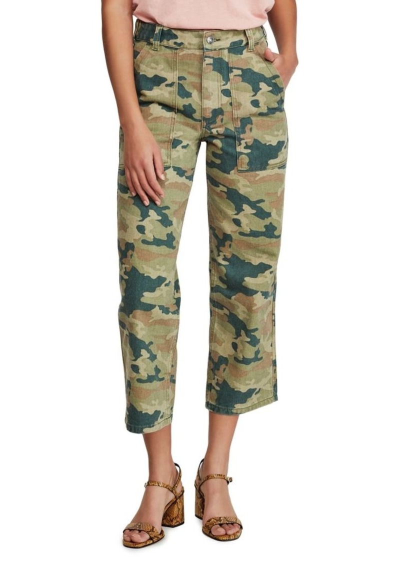 Free People Remy Camo-Printed Pants