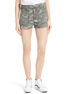 Free People Camo High Rise Shorts