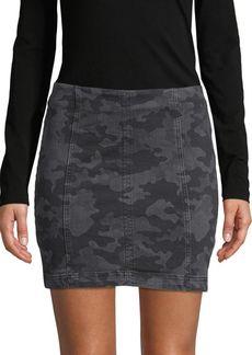 Free People Camo-Print Mini Skirt