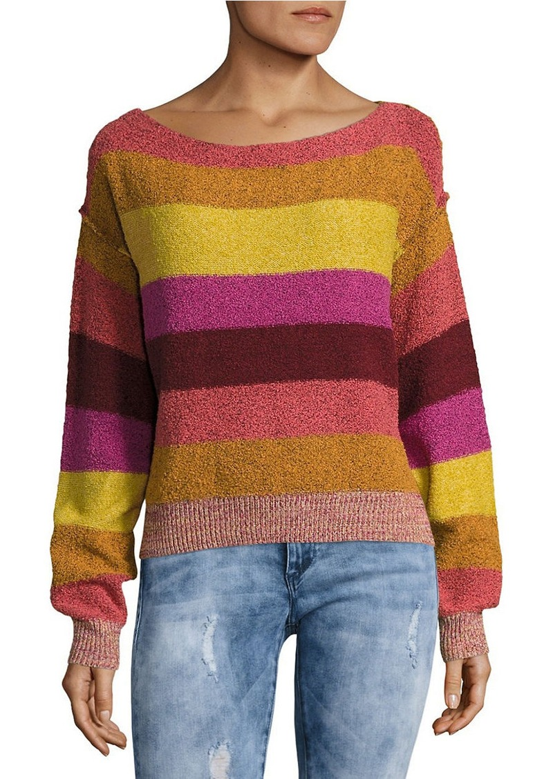 1619f945eebc5 Free People FREE PEOPLE Candyland Boatneck Striped Sweater