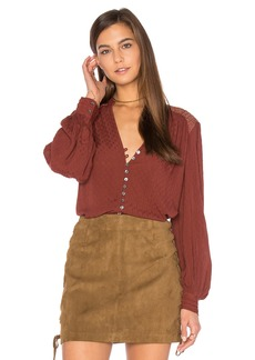 Free People Canyon Rose Button Down Top