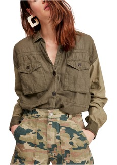 Free People Cargo Pocket Top