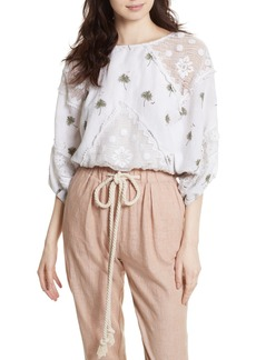 Free People Carolina Mindset Crop Blouse