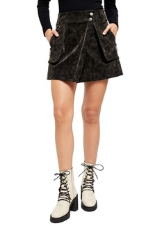 Free People Carson Utility Faux Wrap Skirt
