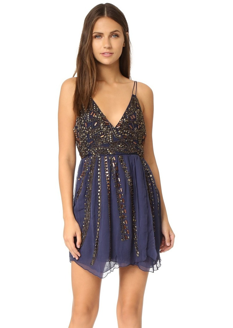 Free People Free People Cassiopeia Embellished Mini Party Dress ...