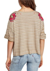 Free People Catalunya Embroidered Top