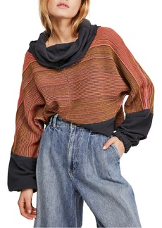 Free People Catch a Smile Cowl Pullover