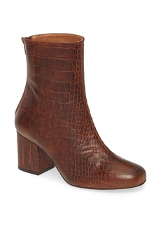 Free People Cecile Croc Embossed Bootie (Women)