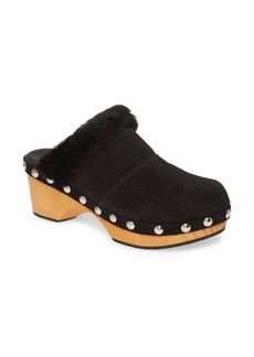 Free People Chalet Clog with Genuine Shearling Trim (Women)